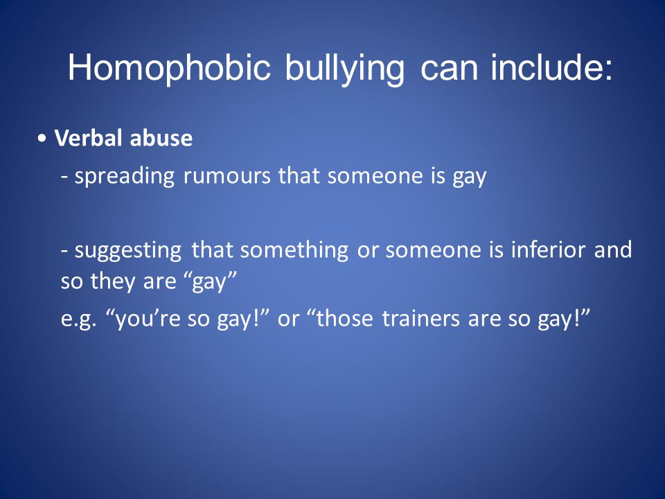 Cyber bullying – using on-line spaces to spread rumours about someone or exclude them.