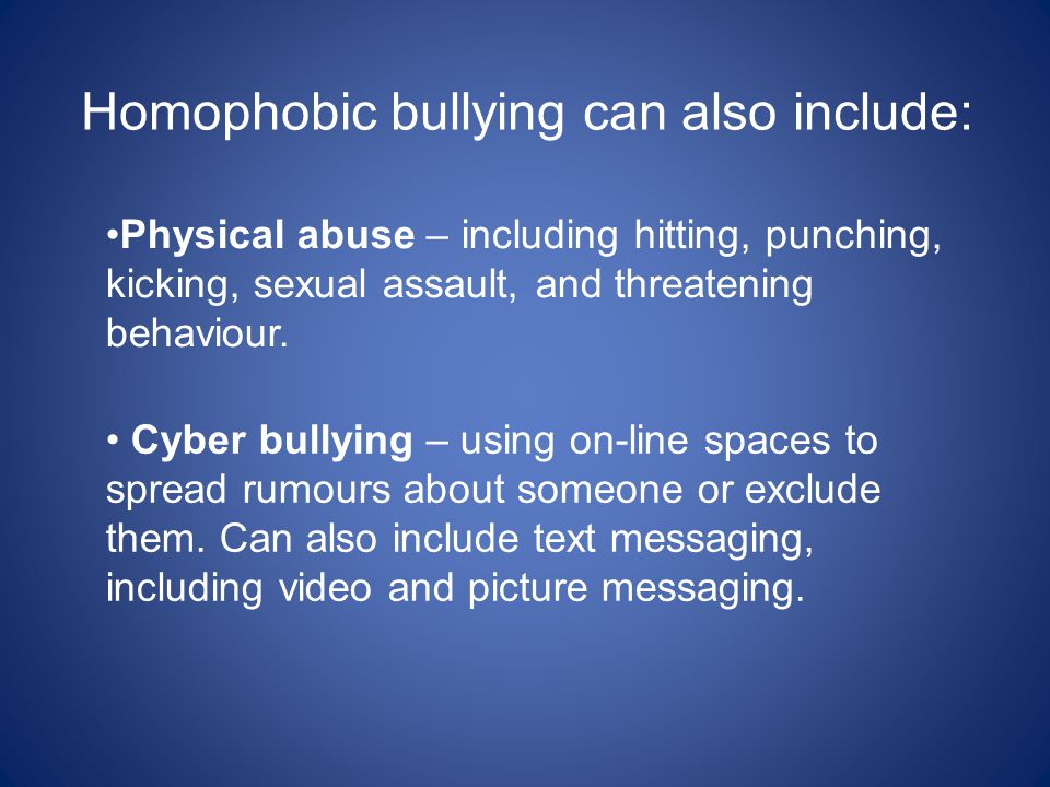 Cyber bullying – using on-line spaces to spread rumours about someone or exclude them. Can also include text messaging, including video and picture me