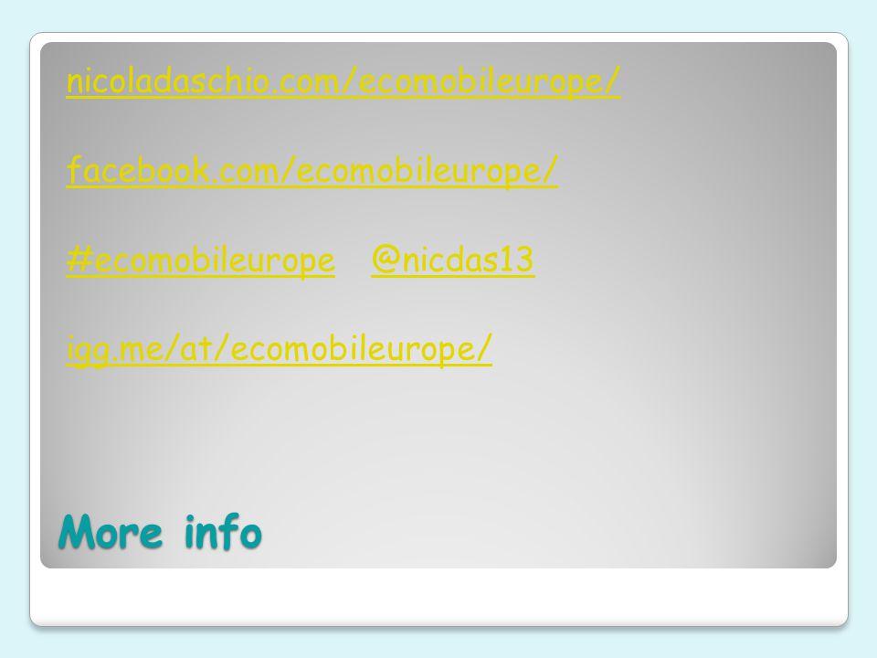 More info nicoladaschio.com/ecomobileurope/ facebook.com/ecomobileurope/ #ecomobileurope#ecomobileurope @nicdas13@nicdas13 igg.me/at/ecomobileurope/