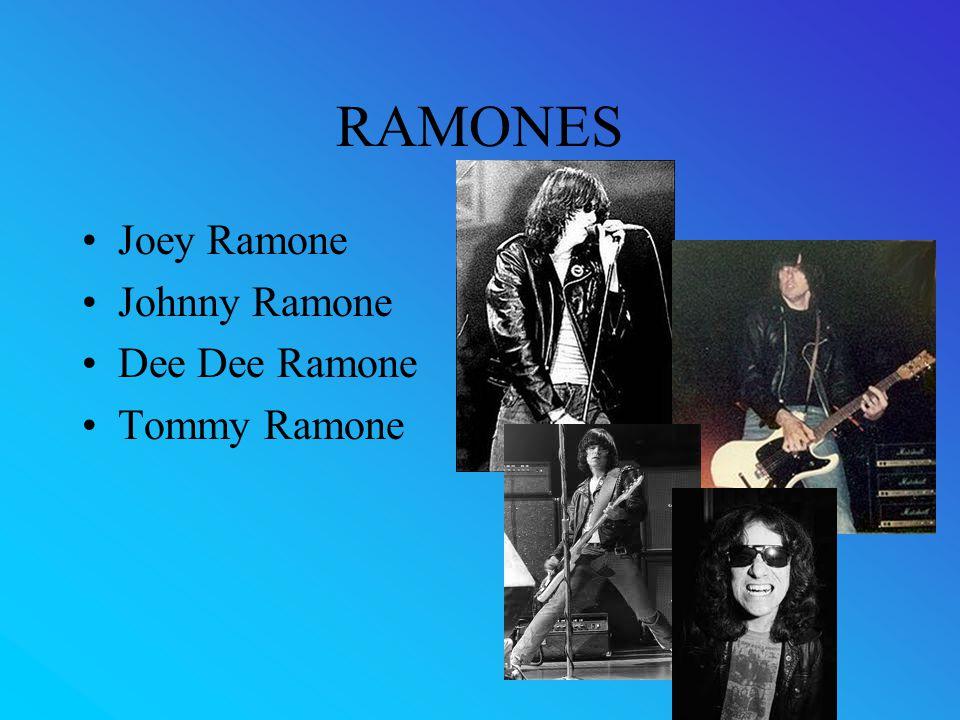 RAMONES Joey Ramone Johnny Ramone Dee Dee Ramone Tommy Ramone