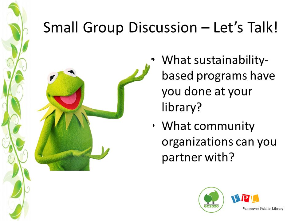 Small Group Discussion – Let's Talk.