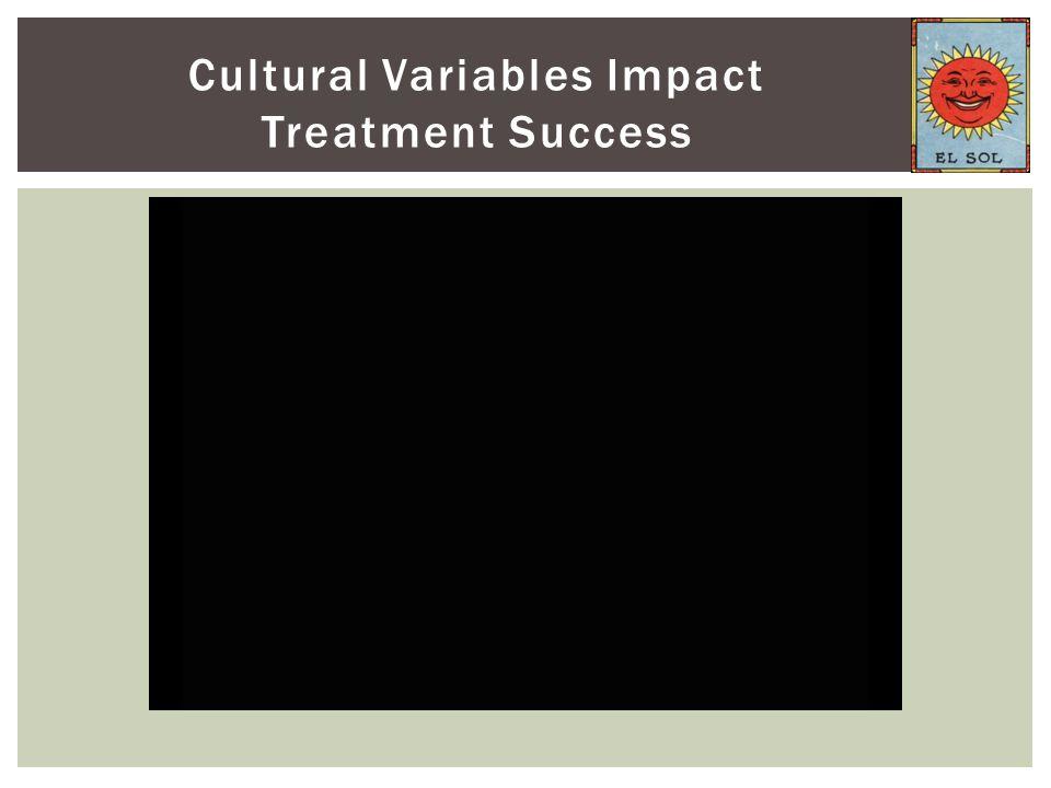Cultural Variables Impact Treatment Success