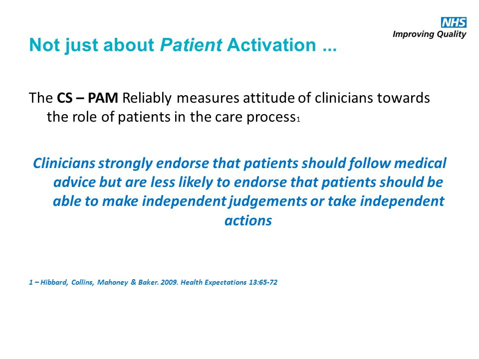 Not just about Patient Activation...