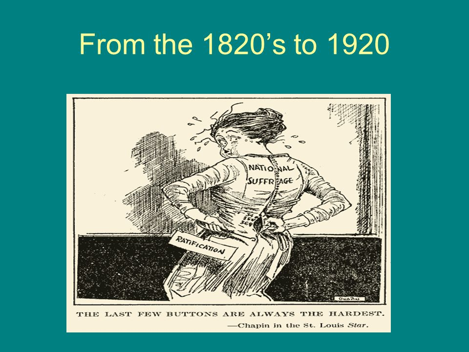 From the 1820's to 1920