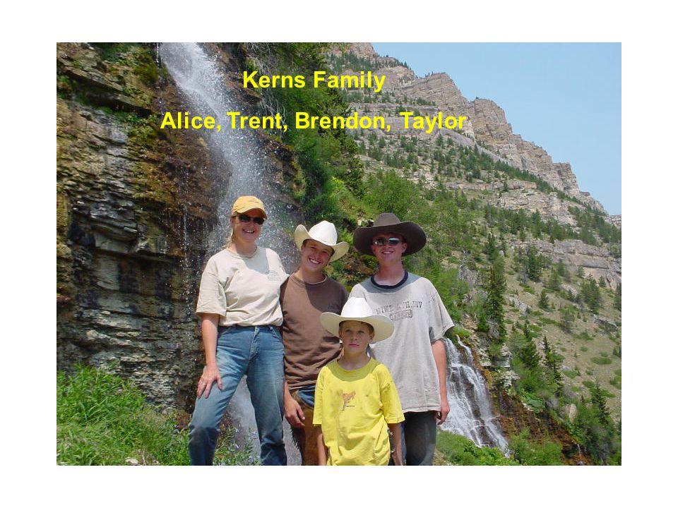 Kerns Family Alice, Trent, Brendon, Taylor