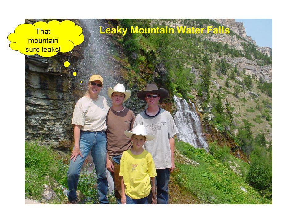 That mountain sure leaks! Leaky Mountain Water Falls