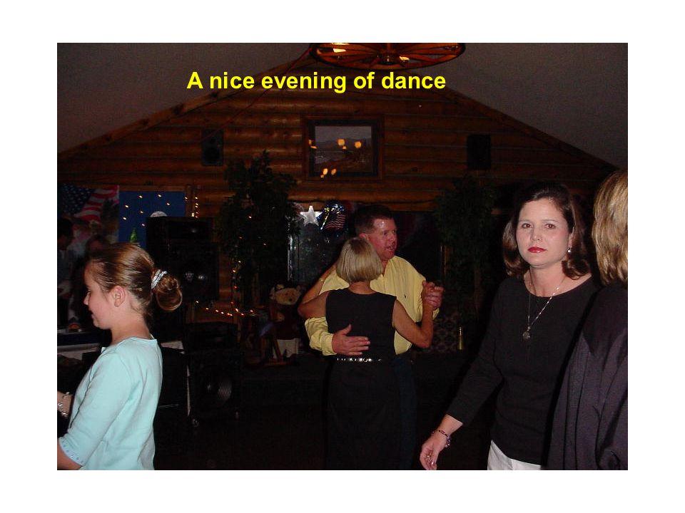 A nice evening of dance
