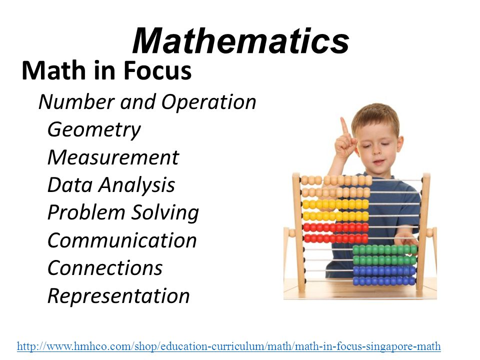 Mathematics Math in Focus Number and Operation Geometry Measurement Data Analysis Problem Solving Communication Connections Representation http://www.