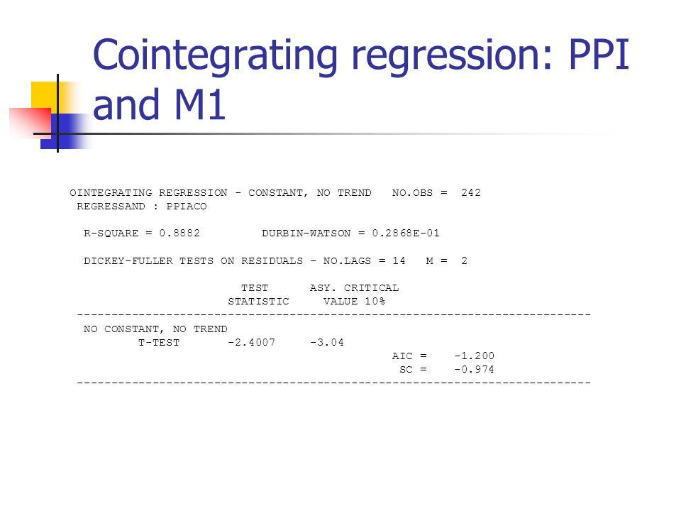 Test for Cointegration