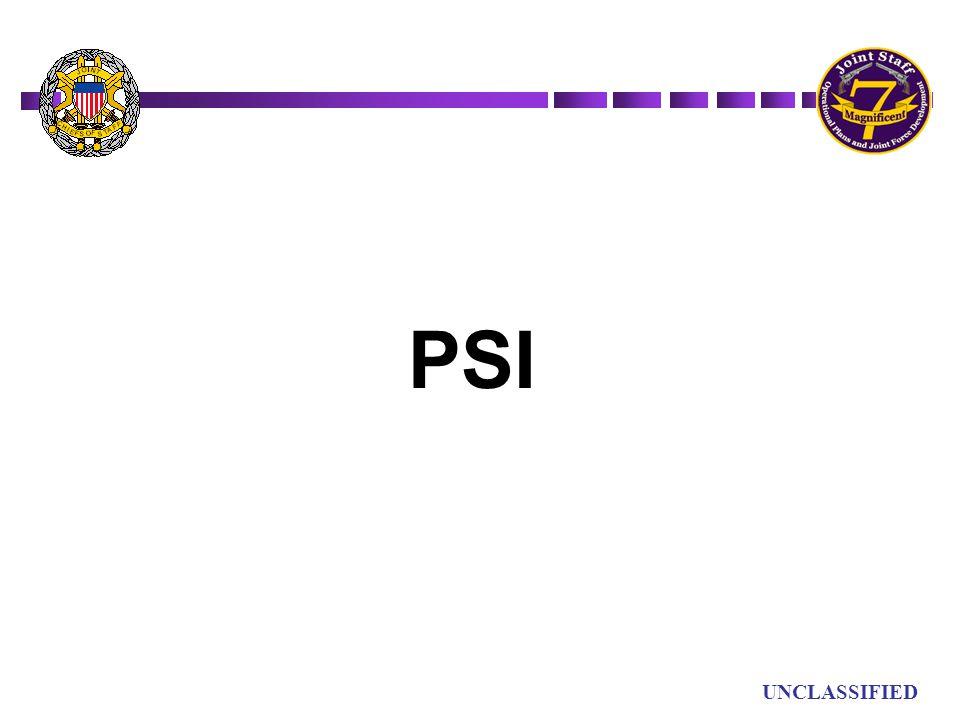 UN UNCLASSIFIED PSI