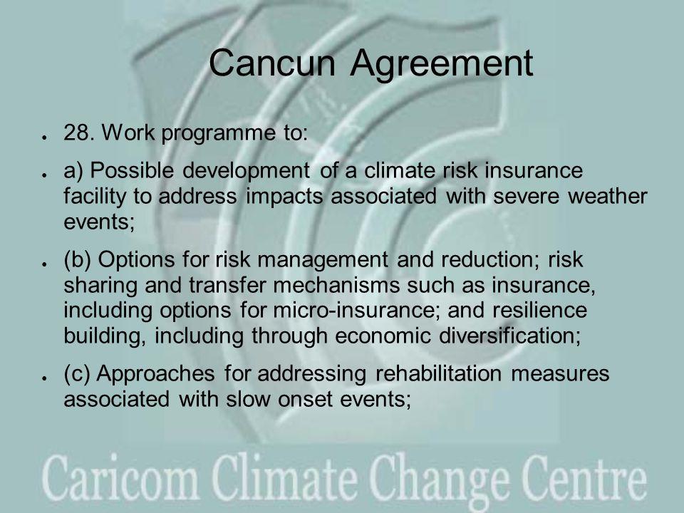 Cancun Agreement ● 28.