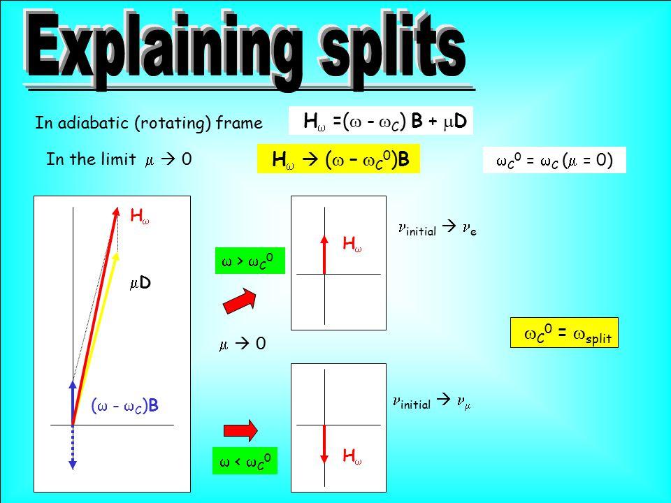 H  =(  -  C )  B +  D In the limit   0 H   (  –  C 0 )B  C 0 =  split  >  C 0  <  C 0   0 (  -  C )B HH DD HH