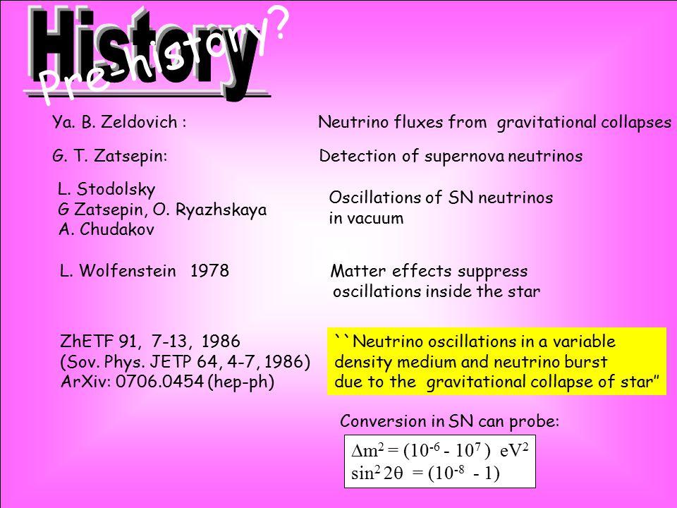 ``Neutrino oscillations in a variable density medium and neutrino burst due to the gravitational collapse of star'' ZhETF 91, 7-13, 1986 (Sov. Phys. J