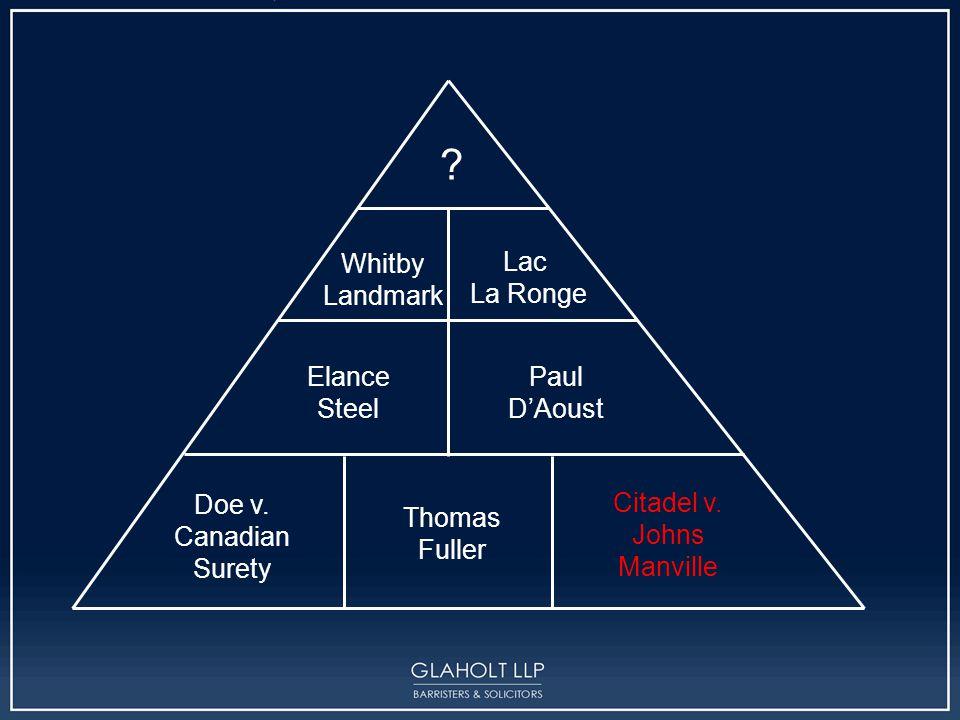 Citadel General Assurance Co.v. Johns- Manville Canada Inc.