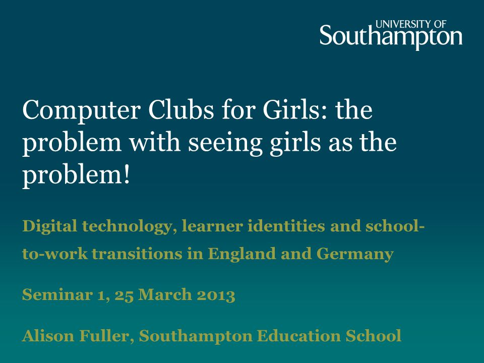 Computer Clubs for Girls: the problem with seeing girls as the problem.