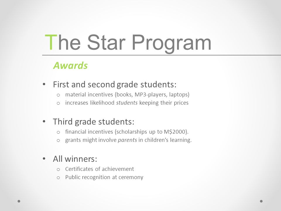 1.Star Program in Context 2.Theoretical Overview 3.Evaluation Strategy 4.General Treatment Effects on Test Scores 5.Indirect Treatment Effects (Teachers and Parents) Agenda
