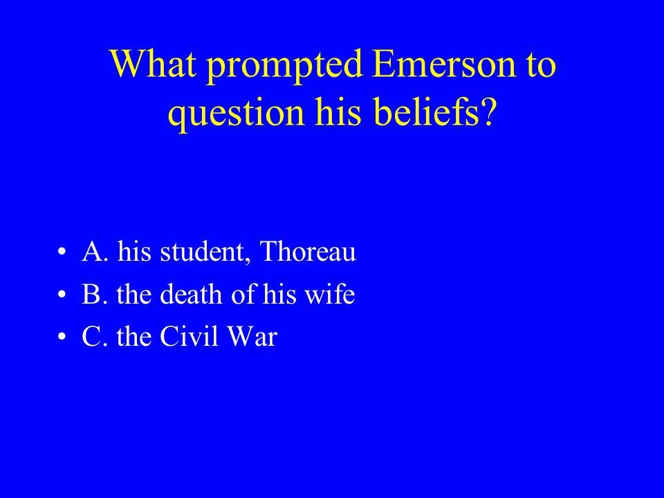 Who wrote Civil Disobedience ? A. Ralph Waldo Emerson B. Margaret Fuller C. Henry David Thoreau