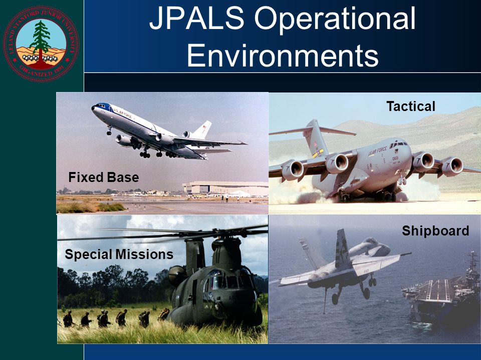 JPALS Operational Environments Shipboard Tactical Fixed Base Special Missions