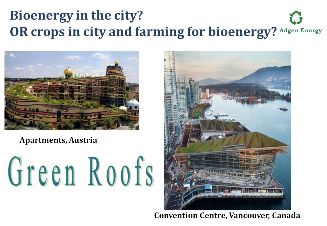 Adgen Energy Bioenergy in the city. OR crops in city and farming for bioenergy.