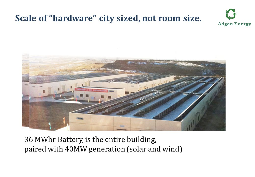 Adgen Energy Scale of hardware city sized, not room size.