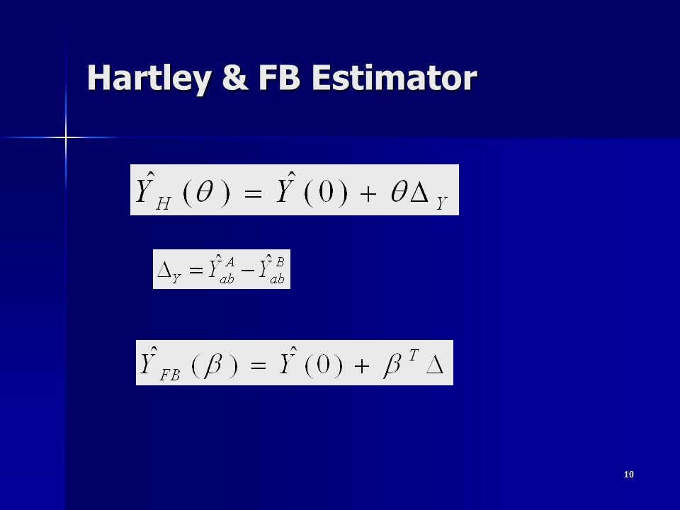 10 Hartley & FB Estimator