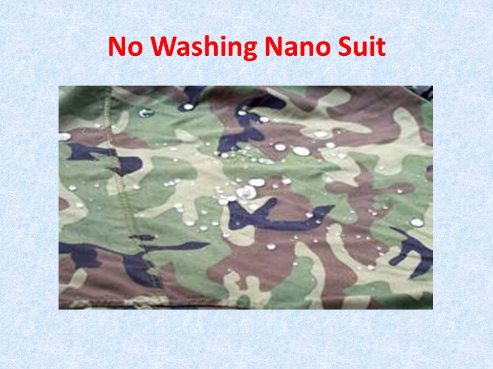 No Washing Nano Suit