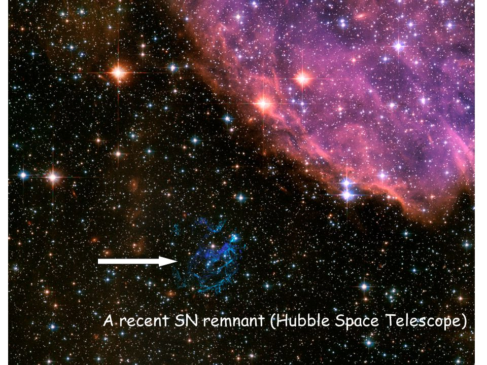 A recent SN remnant (Hubble Space Telescope)