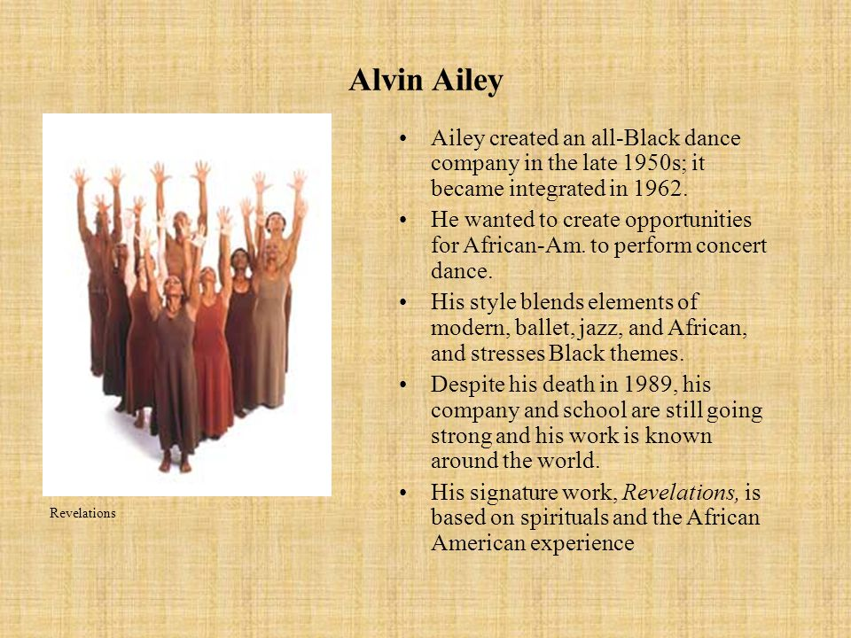 The Post-War Generation Alvin Ailey Co.