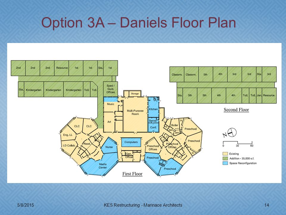 5/8/201514KES Restructuring - Marinace Architects Option 3A – Daniels Floor Plan