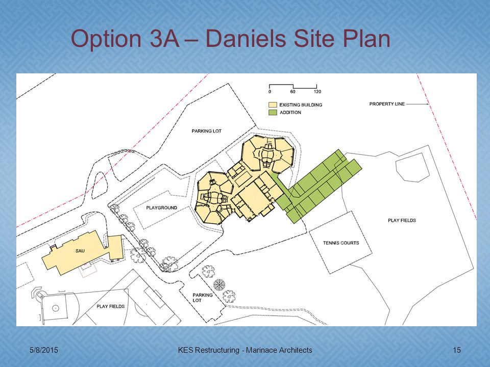 5/8/201515KES Restructuring - Marinace Architects Option 3A – Daniels Site Plan