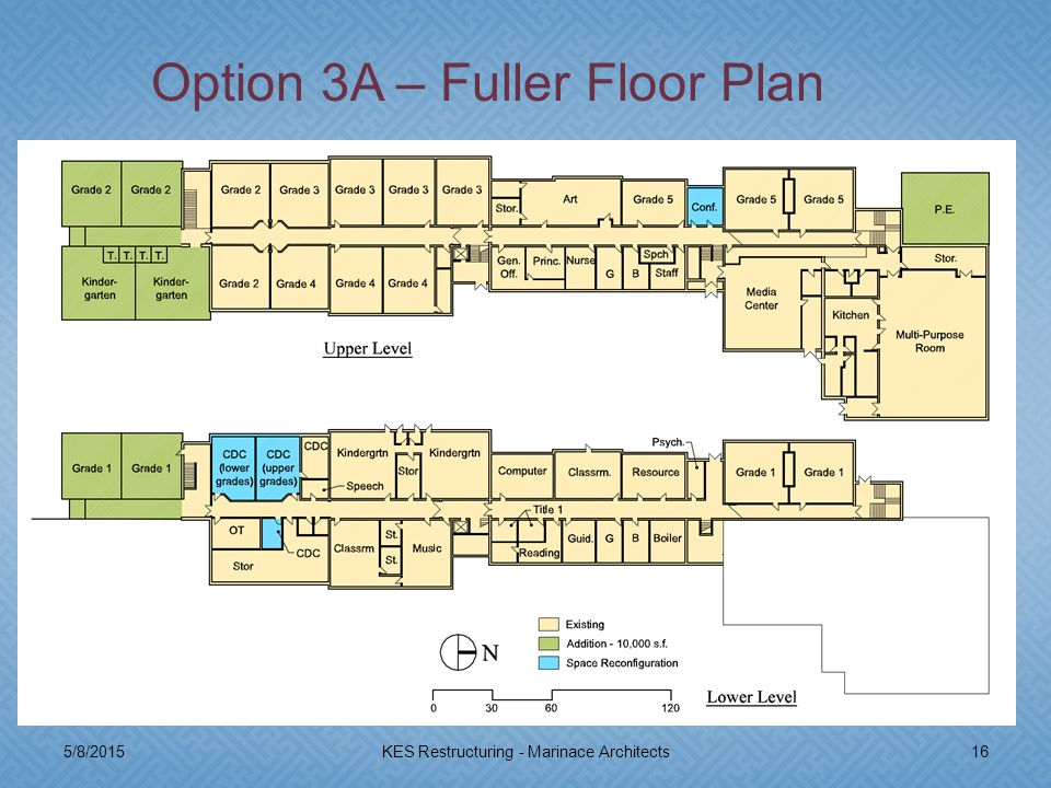 5/8/201516KES Restructuring - Marinace Architects Option 3A – Fuller Floor Plan