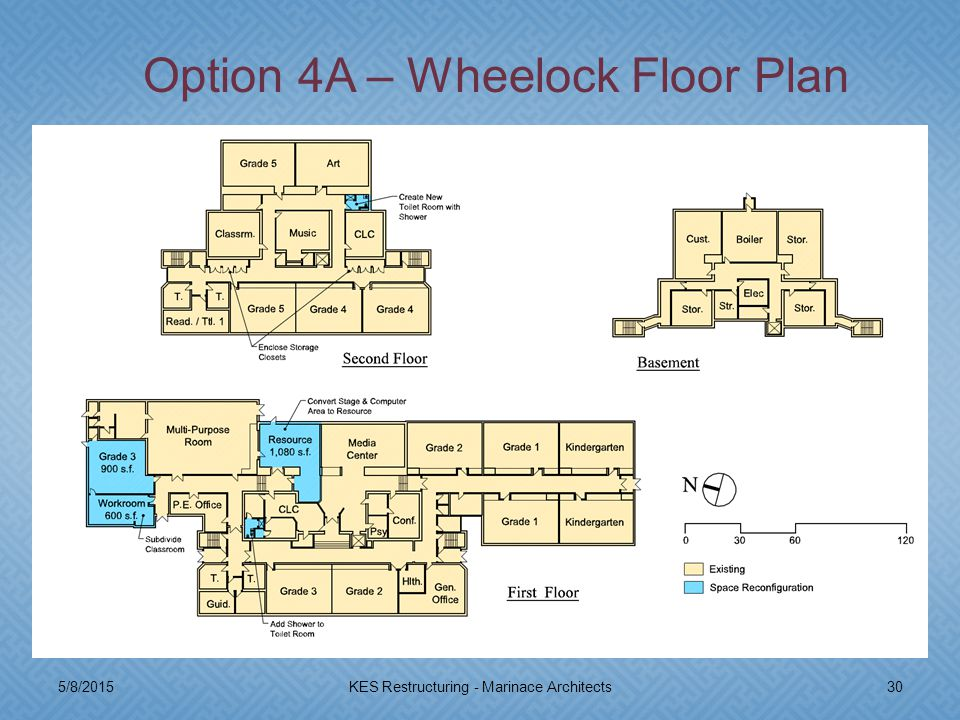 5/8/201530KES Restructuring - Marinace Architects Option 4A – Wheelock Floor Plan