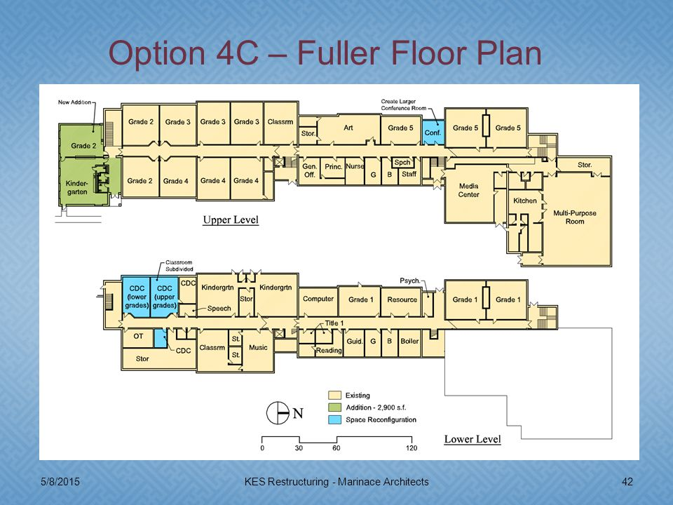 5/8/201542KES Restructuring - Marinace Architects Option 4C – Fuller Floor Plan
