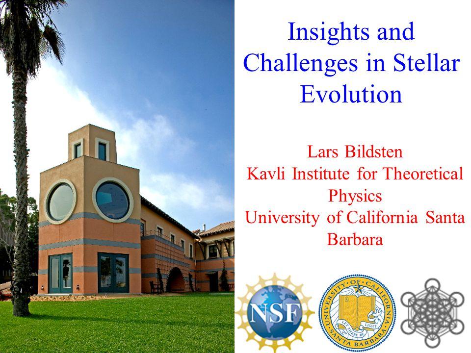 Lars Bildsten Kavli Institute for Theoretical Physics University of California Santa Barbara Insights and Challenges in Stellar Evolution