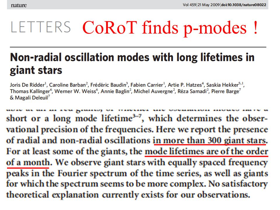 CoRoT finds p-modes !
