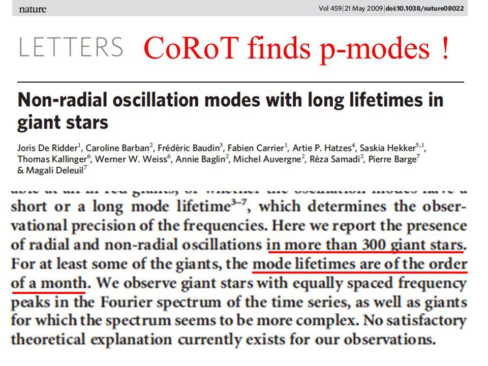 Kepler Observations Bedding et al. '10 (Kepler) Kepler