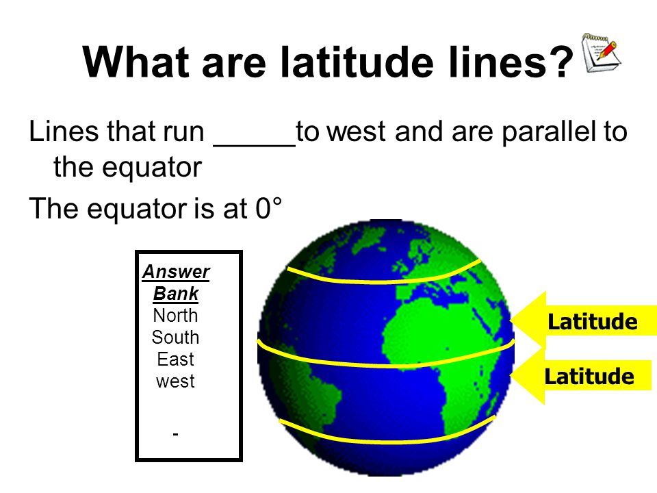 Longitude Lines Longitude lines run north and south.