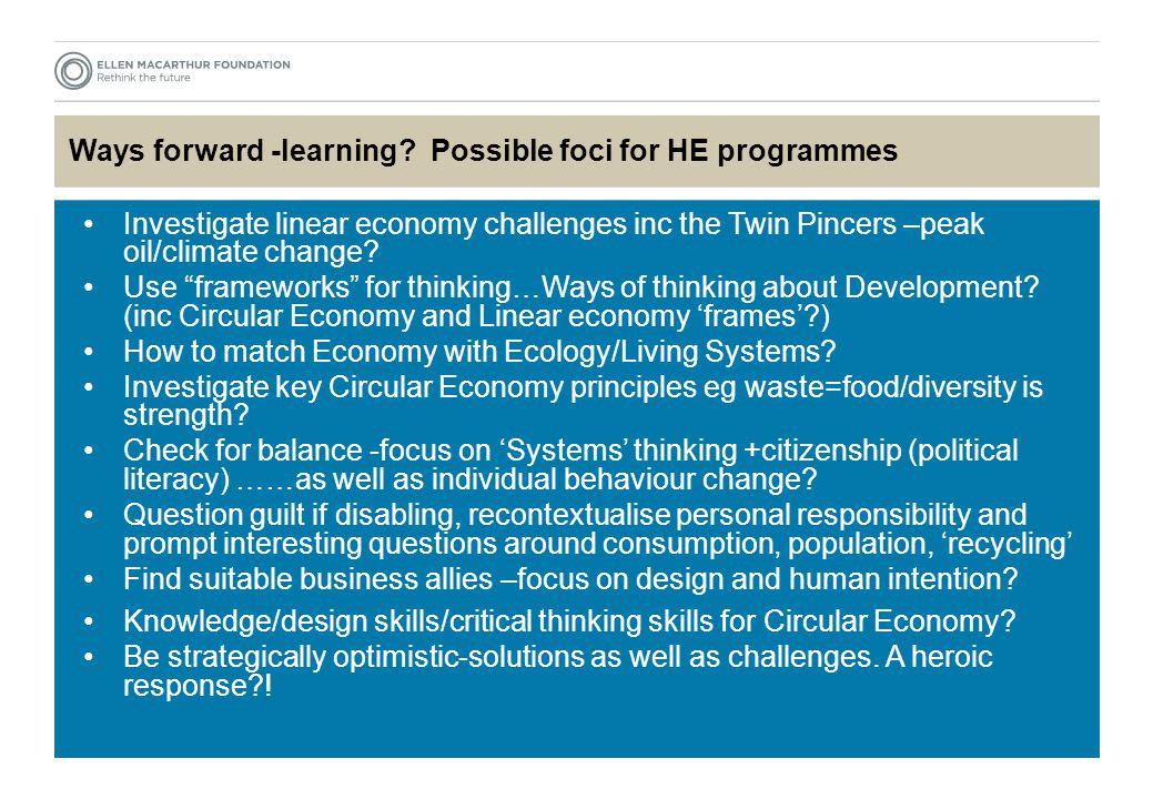 Ways forward -learning.