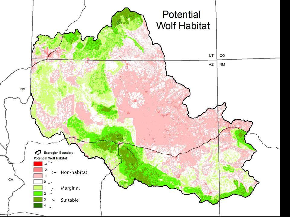 Non-habitat Marginal Suitable