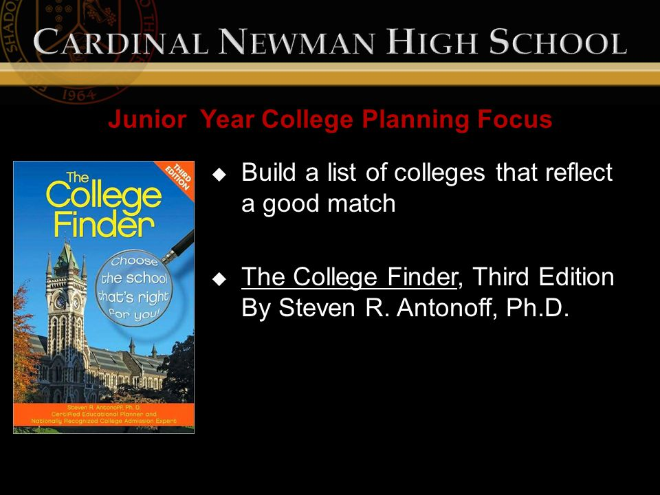  Build a list of colleges that reflect a good match  The College Finder, Third Edition By Steven R.