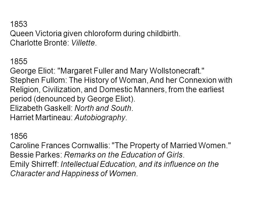1853 Queen Victoria given chloroform during childbirth.