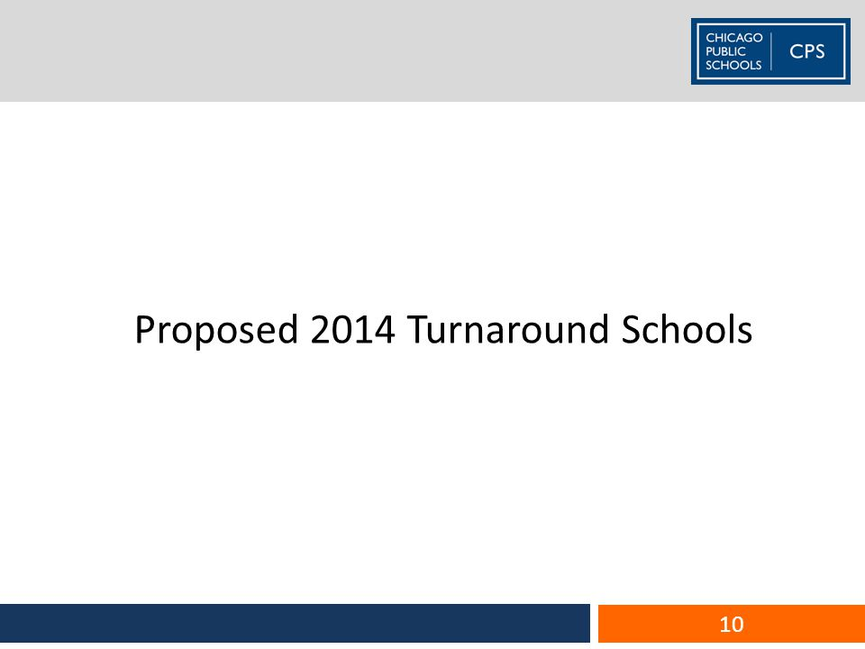 Proposed 2014 Turnaround Schools 10