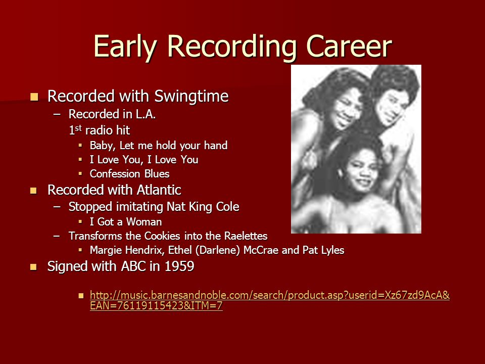 Early Recording Career Recorded with Swingtime Recorded with Swingtime –Recorded in L.A.