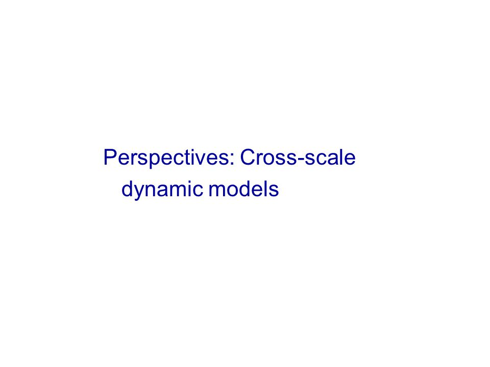 Zones of seismicity Perspectives: Cross-scale dynamic models