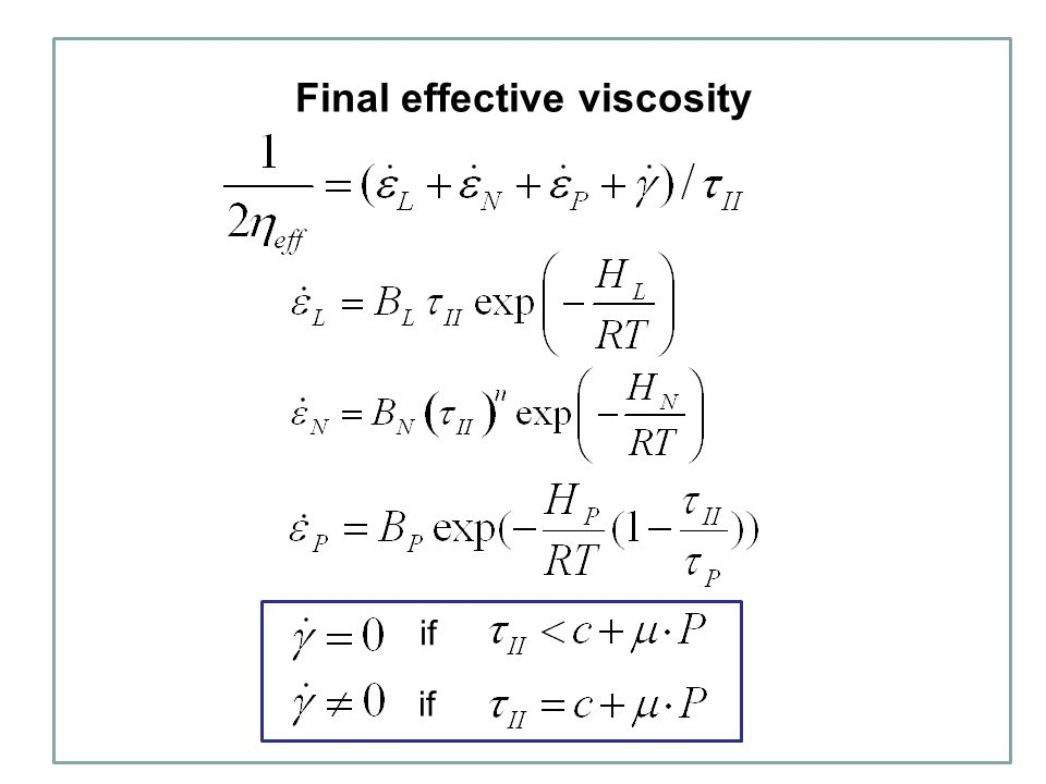 Final effective viscosity if