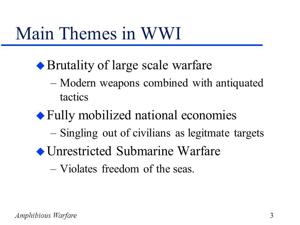 Amphibious Warfare4 Adolf Hitler u Born in Austira-1889 u Deserter from Austrian army u WWI: Corporal- messenger in trenches u Iron Cross u Blames WWI on Jews and Marxists