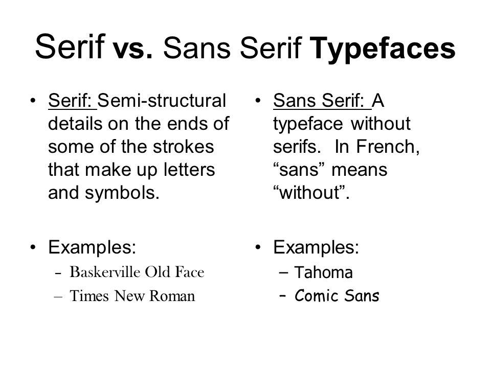Serif vs.