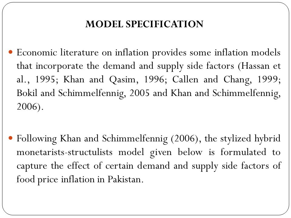 Lorie and Khan (2006) Concluded that there is only a weak evidence of the existence of long run co integration between domestic prices, international prices and support prices for key agricultural goods in Pakistan.