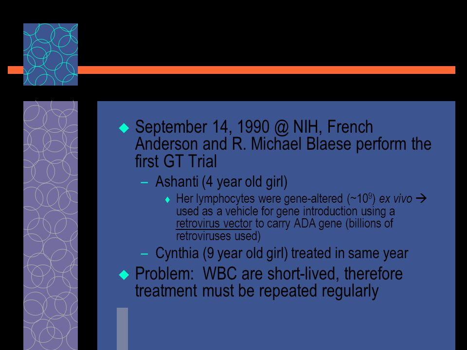  September 14, 1990 @ NIH, French Anderson and R.