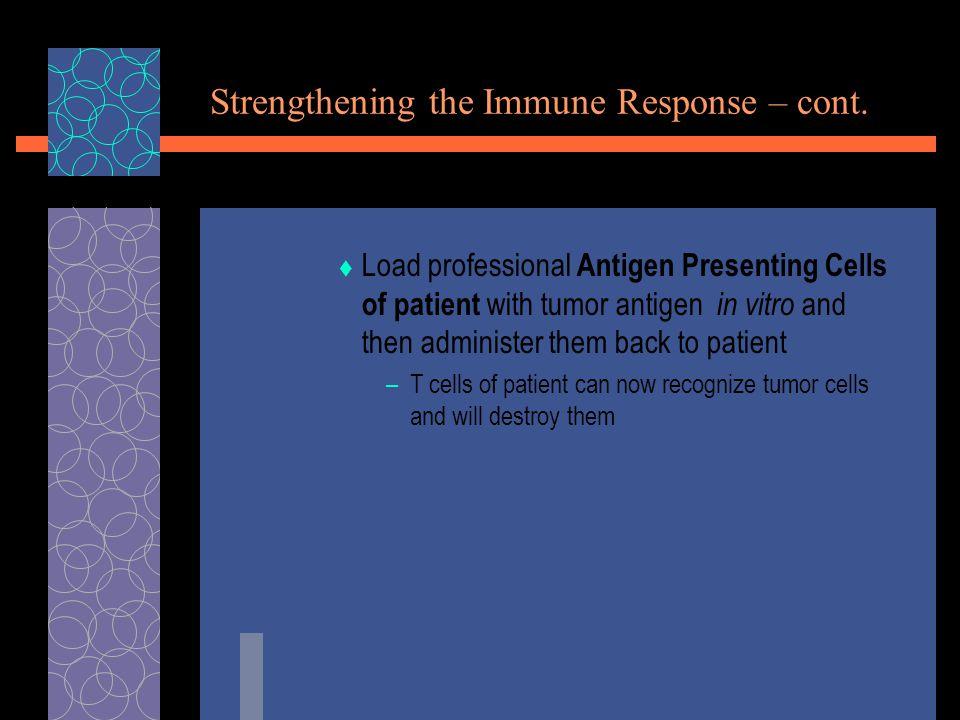 Strengthening the Immune Response – cont.
